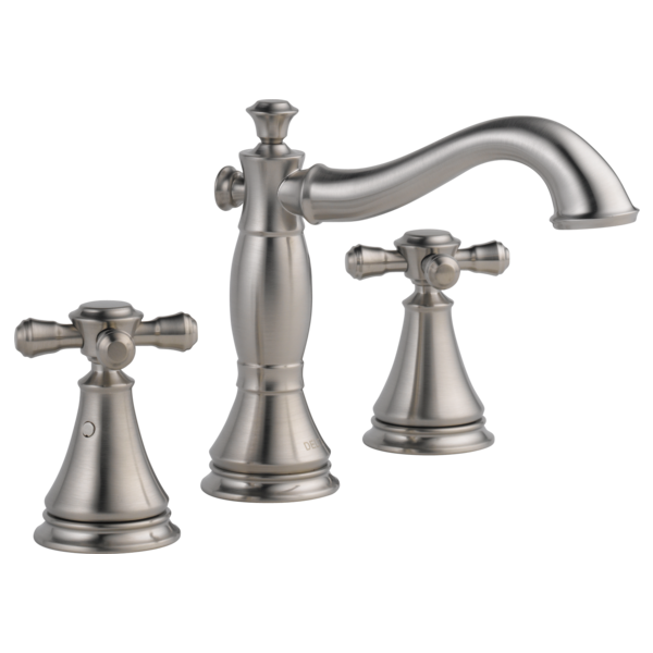 Two Handle Widespread Bathroom Faucet - Less Handles 3597LF-SSMPU ...
