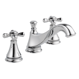 cassidy two handle widespread lavatory faucet low arc spout less handles