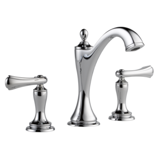Charlotte Widespread Lavatory Faucet   Less Handles  65385LF PCLHP  HL5385 PC Shown With Metal Blade Handle Kit (Pair)   Lavatory  HL5385 PC