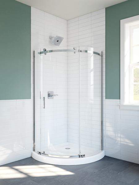 Round Corner Shower Enclosure Delta Faucet