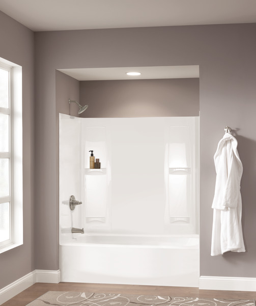 "60"" X 30"" Curved Bathtub - Left Drain 40114L"