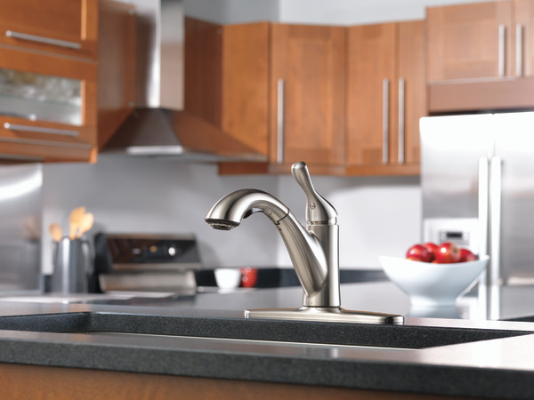 16953-SS-DST - Single Handle Pull-Out Kitchen Faucet