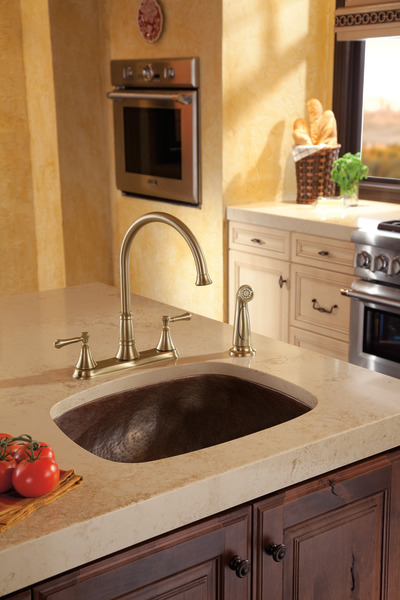 Two Handle Kitchen Faucet With Spray 2497lf Cz Delta Faucet
