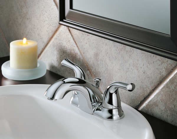 7 Faucet Finishes For Fabulous Bathrooms: Two Handle Centerset Bathroom Faucet 2520LF-A