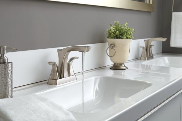 Two Handle Centerset Bathroom Faucet Metal Pop Up 2552