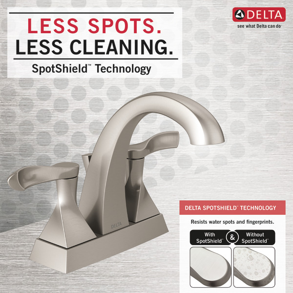 Two Handle Centerset Bathroom Faucet 25741LF-SP | Delta Faucet
