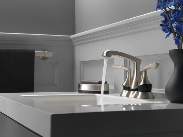 7 Faucet Finishes For Fabulous Bathrooms: Two Handle Centerset Lavatory Faucet 25750LF-SPBL