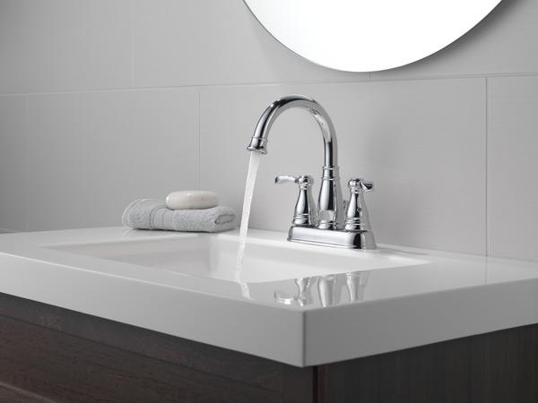 Delta Porter 4 In Centerset 2 Handle Bathroom Faucet With: Two Handle Centerset Bathroom Faucet 25984LF-ECO