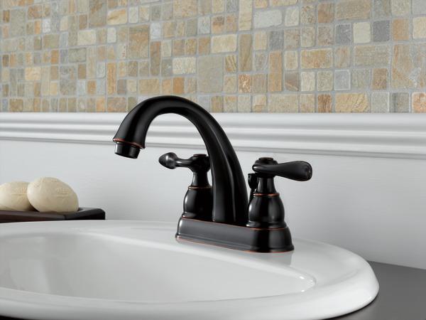 Two Handle Centerset Bathroom Faucet 25996LF-OB-ECO