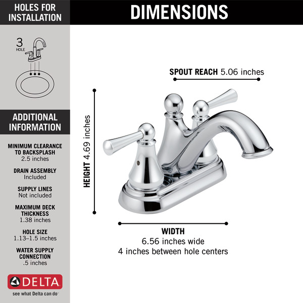6 inch centerset bathroom faucet. Your browser does not support the video tag  25999LF Two Handle Centerset Lavatory Faucet