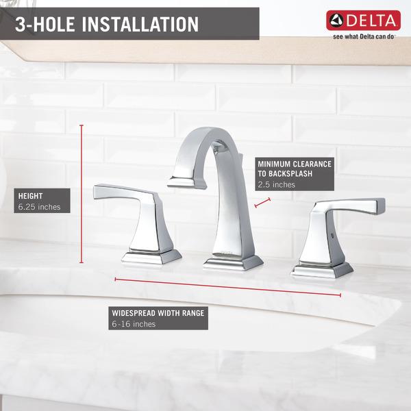Two Handle Widespread Lavatory Faucet 3551LF | Delta Faucet