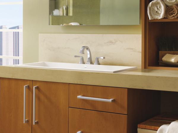 Delta Dryden Polished Nickel 2 Handle Widespread: Two Handle Widespread Bathroom Faucet 3551LF