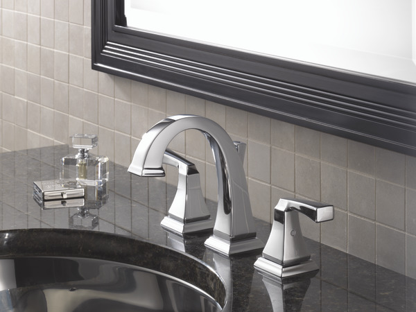 7 Faucet Finishes For Fabulous Bathrooms: Two Handle Widespread Bathroom Faucet 3551LF