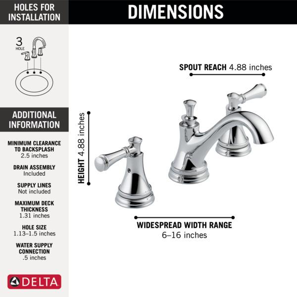 Silverton Replacement Parts : Two handle widespread bathroom faucet lf eco delta