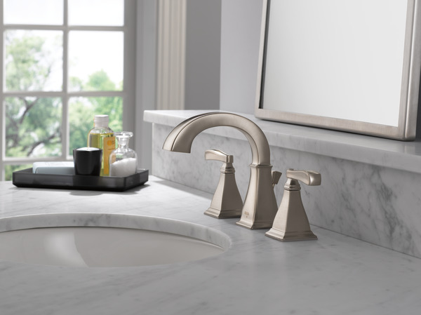 Two Handle Widespread Lavatory Faucet 35717 Sp Dst Delta