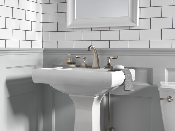 Two Handle Widespread Bathroom Faucet 35741-SP-DST | Delta Faucet