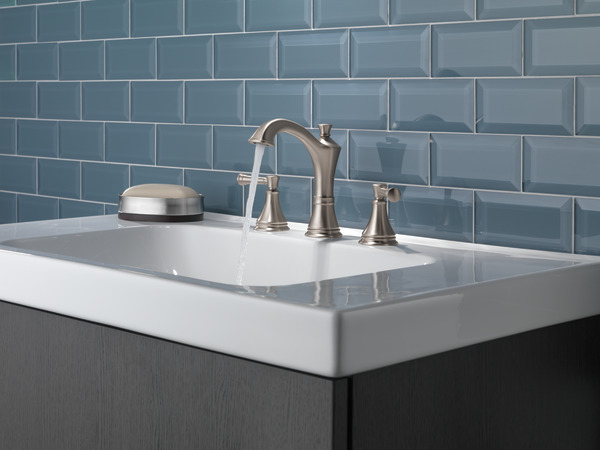 7 Faucet Finishes For Fabulous Bathrooms: Two Handle Widespread Bathroom Faucet 35757LF-SP