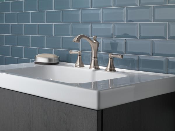 Delta Windemere B3596lf Double Handle Widespread Bathroom: Two Handle Widespread Bathroom Faucet 35757LF-SP