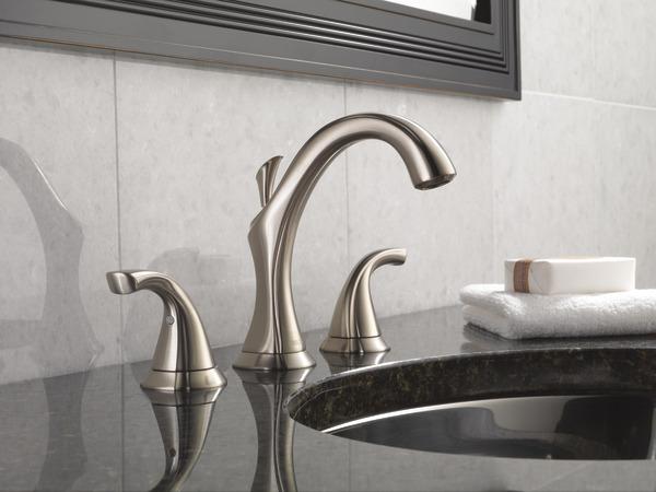 Two Handle Widespread Bathroom Faucet 3592lf Ss Delta Faucet
