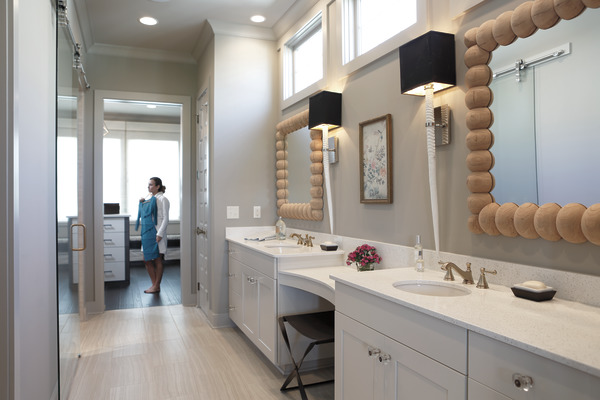 7 Faucet Finishes For Fabulous Bathrooms: Two Handle Widespread Bathroom Faucet