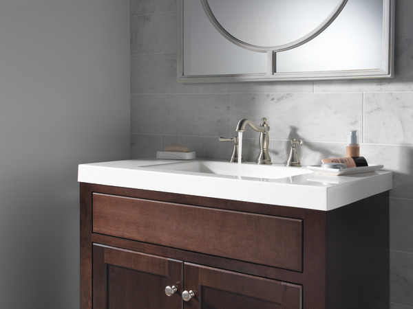 Delta Windemere B3596lf Double Handle Widespread Bathroom: Two Handle Widespread Bathroom Faucet 3597LF-SSMPU