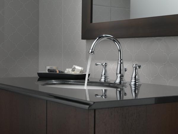 Delta Porter 8 In Widespread 2 Handle Bathroom Faucet In: Two Handle Widespread Bathroom Faucet 35984LF-ECO