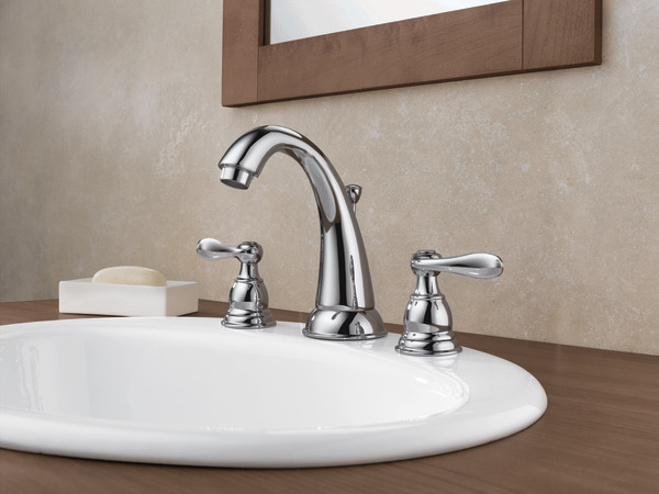Delta Windemere B3596lf Double Handle Widespread Bathroom: Two Handle Widespread Bathroom Faucet 35996LF