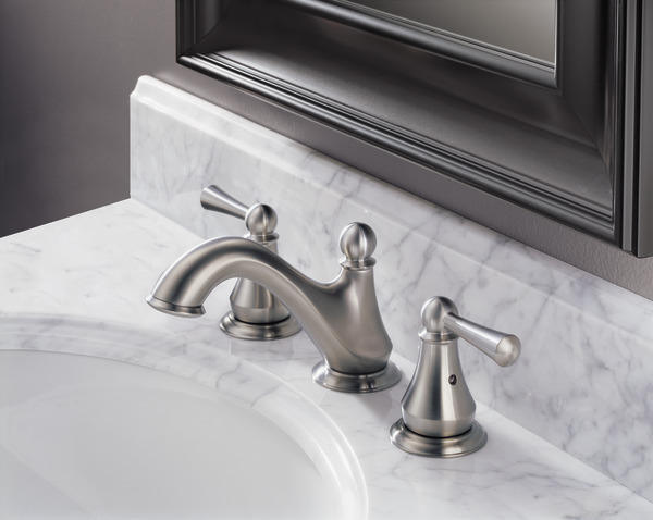 Delta Faucet 35999lf Haywood Polished Chrome Two Handle: Two Handle Widespread Bathroom Faucet 35999LF-SS