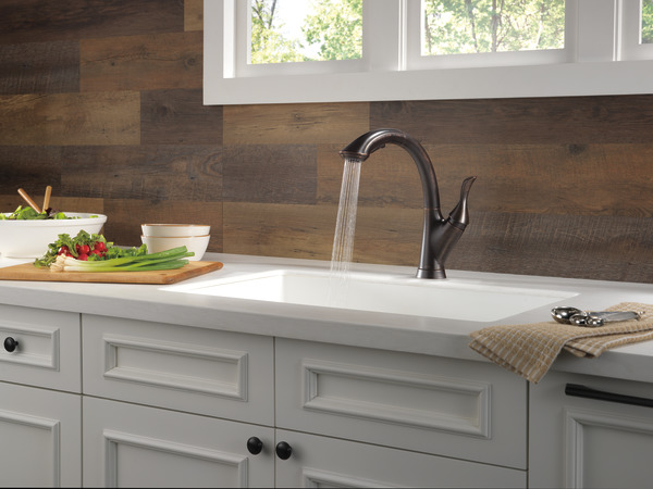 Single Handle Pull Out Kitchen Faucet 4153 Rb Dst Delta