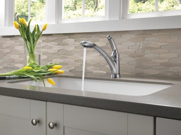 Single Handle Pull-Out Kitchen Faucet 470-AR-DST   Delta Faucet