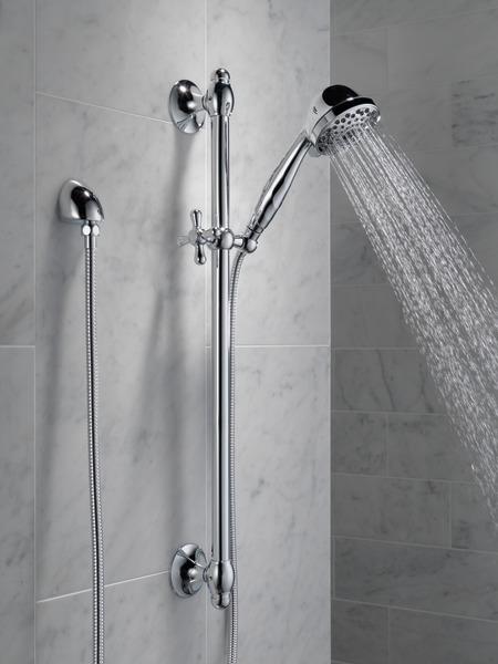 premium 7 setting slide bar hand shower 51708 delta faucet. Black Bedroom Furniture Sets. Home Design Ideas