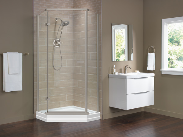 38 Quot Frameless Neo Angle Shower Enclosure 422061 Delta Faucet