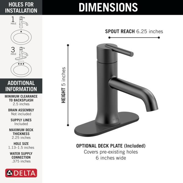 6 inch centerset bathroom faucet. Previous Next Single Handle Bathroom Faucet 559LF BLLPU  Delta