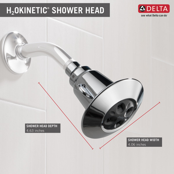 Water-Amplifying® Adjustable Shower Head 75152 | Delta Faucet