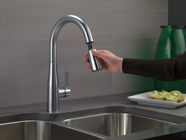 Single Handle Pull Down Kitchen Faucet 9113 Ar Dst Delta