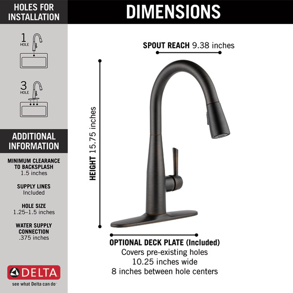 Single Handle Pull Down Kitchen Faucet 9113 Rb Dst Delta