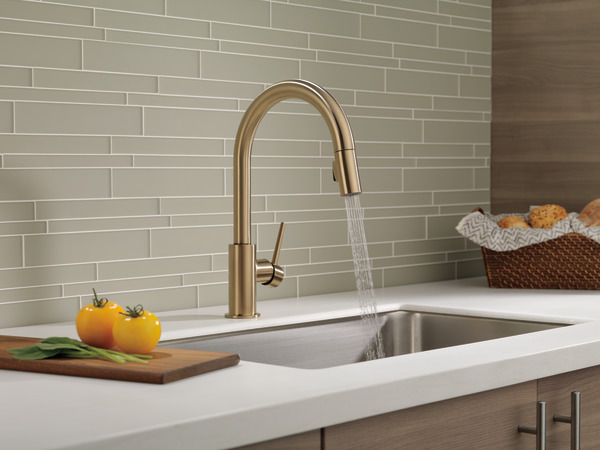Single Handle Pull Down Kitchen Faucet 9159 Cz Dst Delta Faucet
