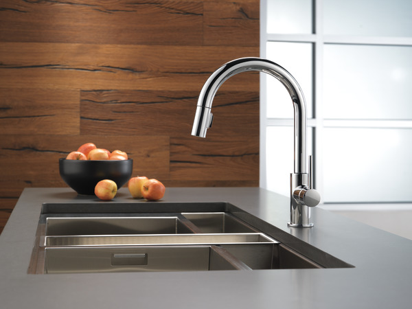 Single Handle Pull Down Kitchen Faucet 9159 Dst Delta Faucet