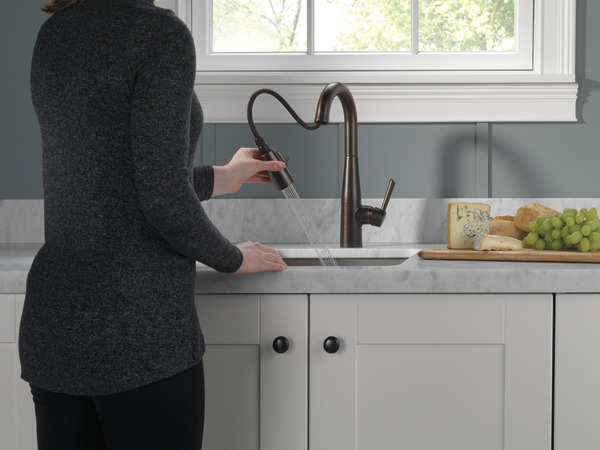 Single Handle Pull Down Bar Prep Faucet 9913 Rb Dst