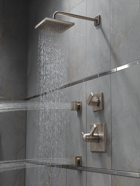 Single Setting Raincan Shower Head Rp53496ss Delta Faucet