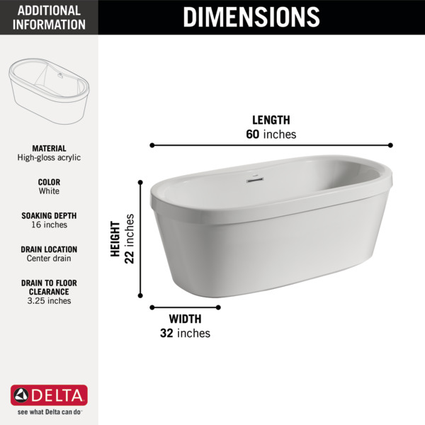 60 free standing tub. Your Browser Does Not Support The Video Tag  60 X 32 Freestanding Tub With Integrated Waste And Overflow B14416