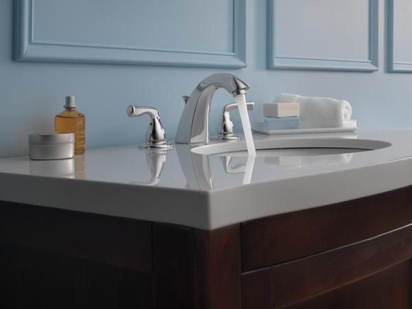 Delta Windemere B3596lf Double Handle Widespread Bathroom: Two Handle Widespread Bathroom Faucet B3511LF-PPU-ECO
