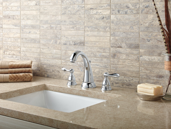 Delta Faucet B3596lf Windemere Polished Chrome Two Handle: Two Handle Widespread Bathroom Faucet B3596LF