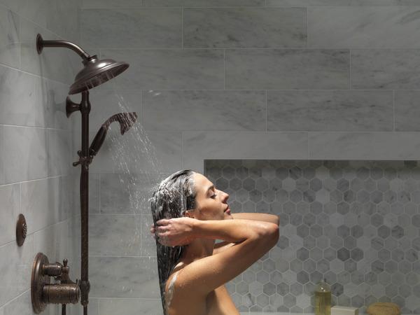 Shower Model 51308-rb - h2okinetic® 3-setting slide bar hand shower