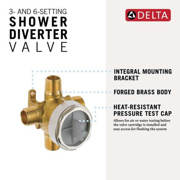 3 and 6 setting diverter rough r11000 delta faucet - Delta bathroom sink faucet installation ...