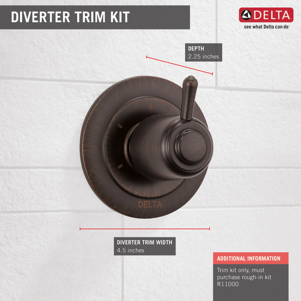 3 Setting 2 Port Diverter Trim T11800 Rb Delta Faucet