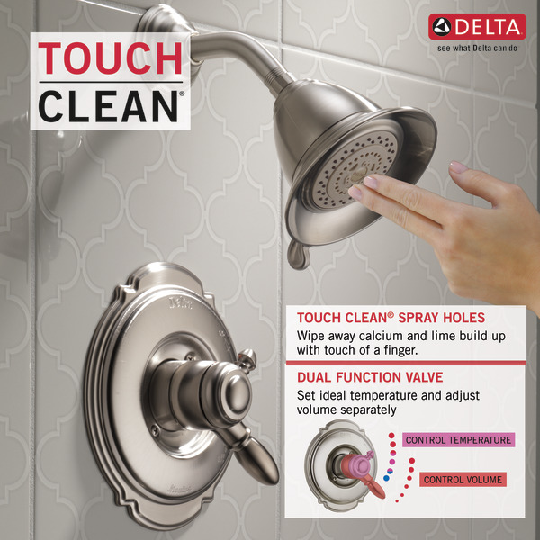 Monitor® 17 Series Shower Trim T17255-SS | Delta Faucet