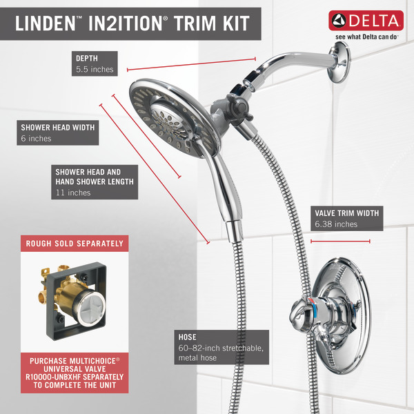 Monitor® 17 Series Shower Trim with In2ition® T17294-I | Delta Faucet