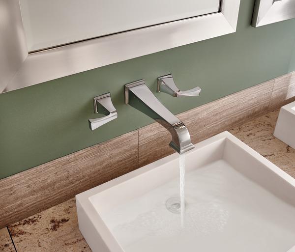 Two Handle Wall Mount Bathroom Faucet Trim T3551lf Wl Delta Faucet