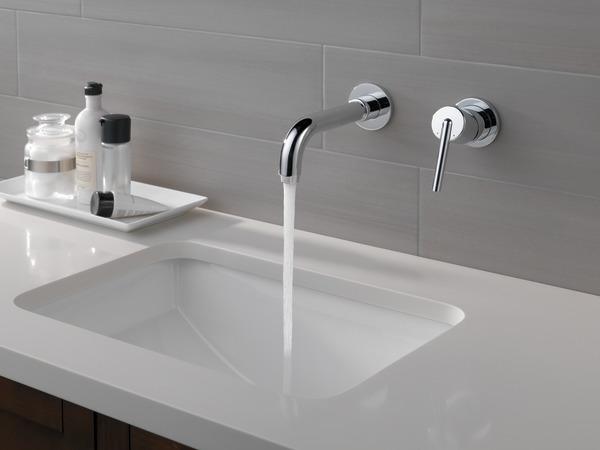 Delta Bathroom Faucet Repair >> Single Handle Wall Mount Bathroom Faucet Trim T3559LF-WL | Delta Faucet